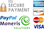 The Shirt Sale secure credit card payment with Moneris Solutions and PayPal